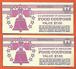 Food Stamp Coupon Usda Unc Two 1996 B 7.00 Full Books Welfare. Agriculture