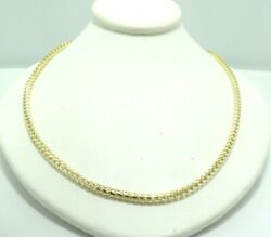 14k Yellow Gold Diamond Cut Round Wheat Link Chain Necklace 25 25.1g D8823