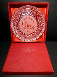 Vintage Waterford Crystal 12 Days Of Christmas Plate 1989 6 Geese In Box