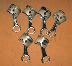 Evinrude 150 Hp V6 175 Hp Piston And Rod Set All 6 Pn 5000813 Fits 1999-2006