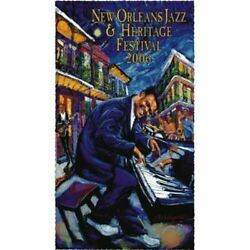 Signed 2006 New Orleans Jazz Festival Jazz Fest Fats Domino By Michalopolos Mint
