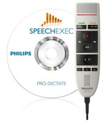 Philips Speechmike Pro Lfh3205 Usb Microphone And Speechexec Pro Dictate Software