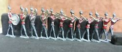 Lot Of 12 Antique Lead British Army Toy Soldiers Marching Band