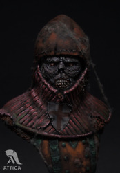 Undead Knight Templar Resin Painted Toy Soldier Bust Miniature Pre-sale   Museum