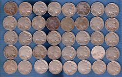 Buffalo Nickels 1938 To 1913 P-d-s Mints - 40 Different Full And Partial Dates.