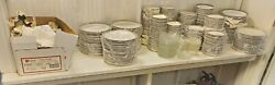 Shenango China Green And Gold Rimmed Place Settings At Least 95 Sets Plus Extras