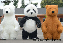 Inflatable Furry Brown Bear Mascot Costume Panda Cosplay Party Outfits Adult Hot