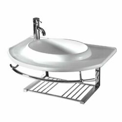 Isabella Collection Large Wall Mount Basin With Integrated Round Bowl, Single...