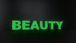 6pc Beauty Led Black Side Panels, Storefront Sign, Complete And Ready To Install