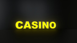 6pc Casino Led Black Side Panels Storefront Sign Complete And Ready To Install