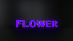 6pc Flower Led Black Side Panels, Storefront Sign, Complete And Ready To Install
