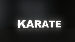 6pc Karate Led Black Side Panels, Storefront Sign, Complete And Ready To Install