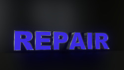 6pc Repair Led Black Side Panels, Storefront Sign, Complete And Ready To Install