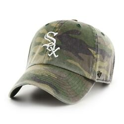 Chicago White Sox 47 Brand Clean Up Camo Adjustable On Field Cotton Hat Dad Cap