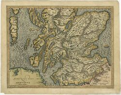 Antique Map Of Southern Scotland By Mercator C.1600