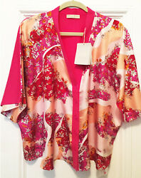 New Authentic Pucci Silk+wool Kimono Cardi Top- Resort- Very Loose S-new W Tags