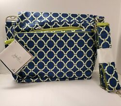 JuJuBe Better Be Royal Envy Messenger Diaper Bag New W Tag Blue $38.00
