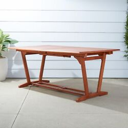 Outdoor Eucalyptus Rectangular Extention Table With Foldable Butterfly