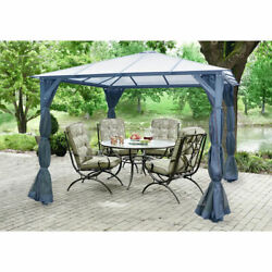 New Gazebo 117l X 117w X 99h Dark Gray