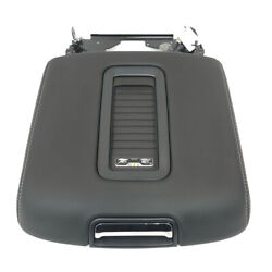 Chevrolet Gmc Black Leather Center Console 15-19 Armrest Lid W/ Wireless Charger