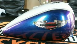 2010 Harley Davidson Softail Deluxe Fuel Gas Tank White / Black Ice Pearl Nice