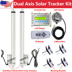 Complete Kit Dual Axis Solar Panel Tracking Tracker Electronic Track System Cl