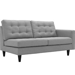 Modway Empress Right-facing Upholstered Fabric Loveseat - Light Gray