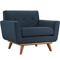 Modway Engage Upholstered Fabric Armchair - Azure