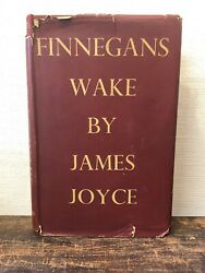 Finnegans Wake James Joyce Andnbsp1st Edition Mcmxxxix 1939 - Faber With Jacket