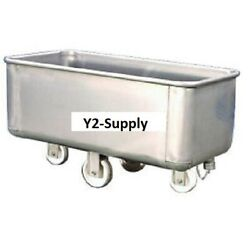 New Stainless Steel Bulk Truck With Drain And Cap 800 Lb. Capacity