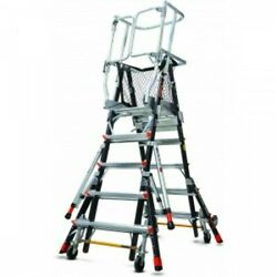 Little Giant Safety Cage 8and039-14and039 W/ Wheel Lift And Ratchet Levelers