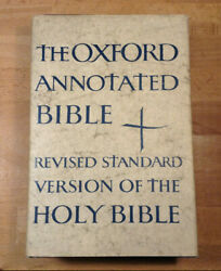 Vintage Oxford Annotated Bible, Rsv, 1962 Hardcover, Some Underlining