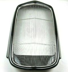 1932 Ford Steel Grill Shell W Stainless Grill Insert Complete Black W91001k