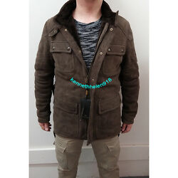 Massimo Dutti Mens Limited Edition Double-sided Field Jacket Coat Brown Size L