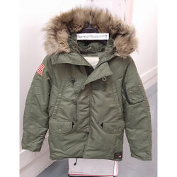 Denim And Supply Mens Military Down Snorkel Jacket Green Size Ml