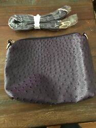Eggplant Handbag with Portable Strap