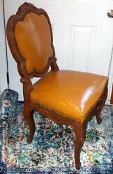 Antique French Venetian Chair Rococo Shells Louis Xvl Cabriole Curved Legs