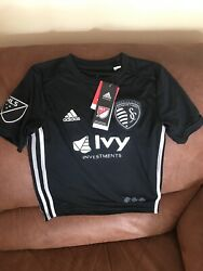 Adidas Sporting Kc Kansas City Mls Soccer Jersey Nwt Size Small Youth