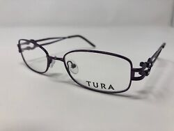 Tura R315 Womens Eyeglass Frames 51 18 130 Purple NEW Authentic Rectangular A75 $59.99