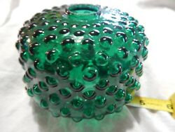 Antique Green Hobnail Glass Gas/electric Light Shade.
