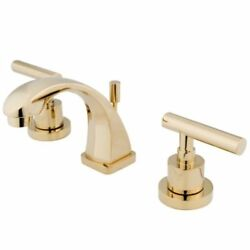 Kingston Brass Manhattan Two Handle 4 To 8 Mini Widespread Lavatory Faucet ...