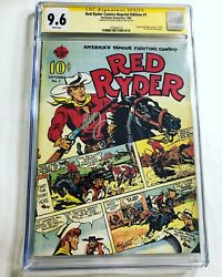 Cgc 9.6 Ss Red Ryder Reprint 1 Signed Peter Billingsley A Christmas Story Ralph