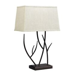 Winter Harbour Hammered Iron Table Lamp In Bronze
