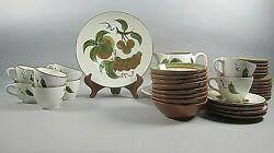 39pc Set Of Stangl China Orchard Song Plates Bowls Cups And Saucers Pitcher+ Ex