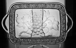 Abp Cut Glass Crystal Rectangular Tray Signed Tuthill