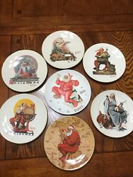 Norman Rockwell Collector 7 Christmas Plates Lot 1975-1981 Limited Edition Rare