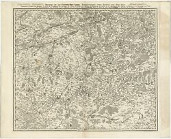Antique Map Of The Region Of Hainaut And Cambrandeacutesis By Reinhardt C.1784