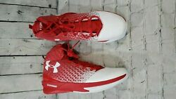 NEW UNDER ARMOUR CLUTCHFIT DRIVE 3 BASKETBALL SHOES RED 1269274 600 MENS SIZE 17 $49.50
