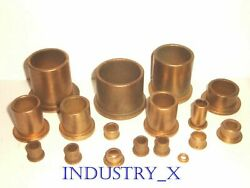 Oilite Bronze Bushing with Flange Pick Your Size amp; Quantity Oil Lite Brass