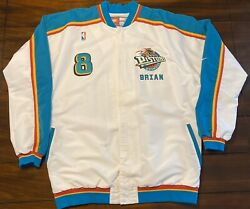 Authentic Nba Detroit Pistons Brian Williams Bison Dele Jacket And Warm Up Jersey